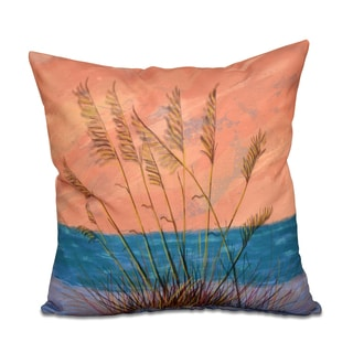 Happy Place Floral Print 20 x 20-inch Outdoor Pillow