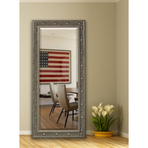 American Made Rayne 32.5 x 73-inch Opulent Silver Extra Tall Wall Vanity Floor Mirror