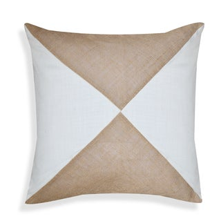 Jeanne 20 x 20-inch Brown-White Throw Pillow