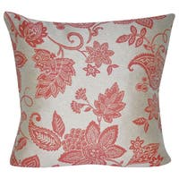 Loom and Mill 22 x 22-inch Paisley Flower Decorative Pillow