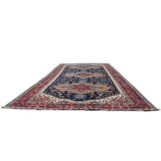 Handmade Herat Oriental Indo Serapi Wool Runner - 9'2 x 24'11 (India)