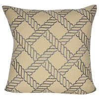 Loom and Mill 18 x 18-inch Ropes Decorative Pillow