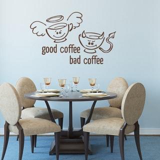 Good Coffee Bad Coffee Wall Decal Vinyl Art Home Decor