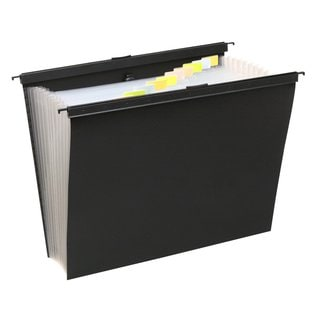 Wilson Jones 13 Pocket Expanding File w/ Slidebar, Letter Size, Black, Pack of 2