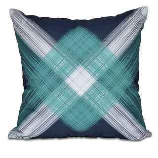 String Art Geometric Print 18 x 18-inch Outdoor Pillow