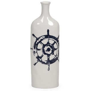 Haines Nautical Ship Wheel Vase