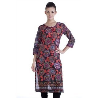 Meena Bindra Women's Leaf Printed Kurta (India)