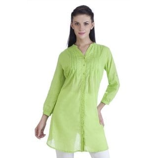 Meena Bindra Women's Ethnic Pintuck Kurta Tunic (India)