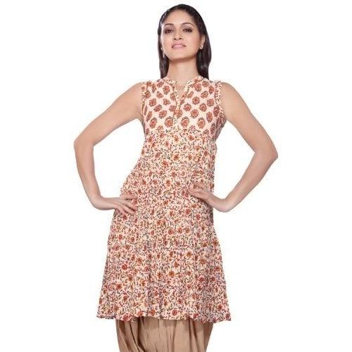 ef7474b7ef8 Shop Handmade Rangmanch Women's Sequined Neck Yoke Kurta Tunic (India) - Free  Shipping On Orders Over $45 - Overstock.com - 11724232