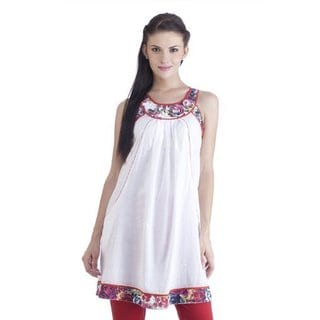 Meena Bindra Women's Printed Neck and Hemline Tunic (India)
