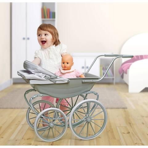 Badger Basket London Doll Pram - Executive Gray
