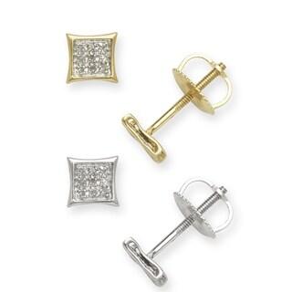 10k Gold Diamond Accent Kite Stud Earrings