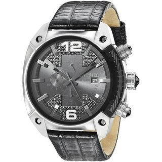 Diesel Men's DZ4372 Overflow Round Black Strap Watch