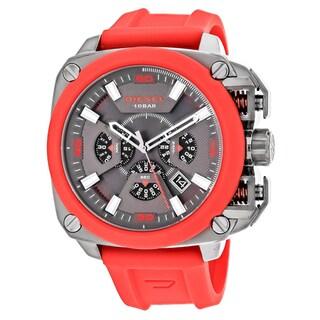 Diesel Men's DZ7368 BAMF Round Red Strap Watch