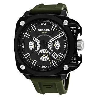 Diesel Men's DZ7369 BAMF Round Green Strap Watch