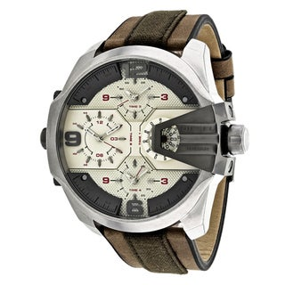 Diesel Men's DZ7375 Chief Round Brown Strap Watch
