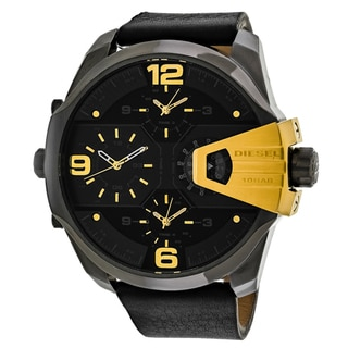 Diesel Men's DZ7377 Uberchief Round Black Strap Watch