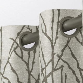 Link to ATI Home Branches Linen Blend Grommet Top Curtain Panel Pair Similar Items in Privacy Curtains