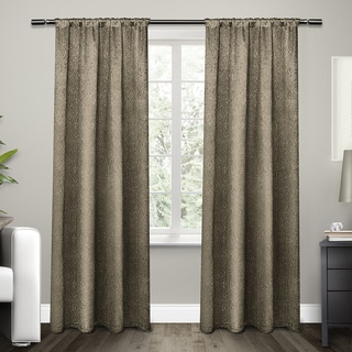 ATI Home Embossed Satin Curtain 84 - 96-inch Length Panel Pair