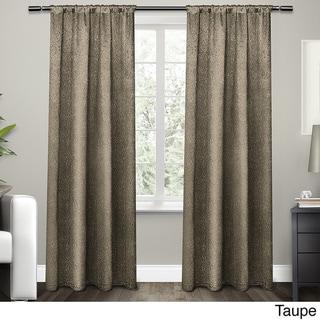 ATI Home Embossed Satin Curtain 84 - 96-inch Length Panel Pair