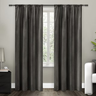 ATI Home Cotton Velvet Blackout Lined Curtain Panel