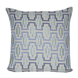 Loom and Mill 20x20 Blue Geo Decorative Throw Pillow