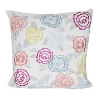 Loom and Mill 20 x 20-inch Pop Rose Decorative Throw Pillow