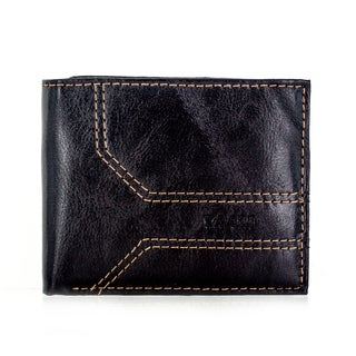 Faddism YL Series Men's Brown Leather Bifold Wallet