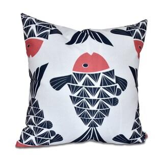 Big Fish Animal Print 18 x 18-inch Outdoor Pillow
