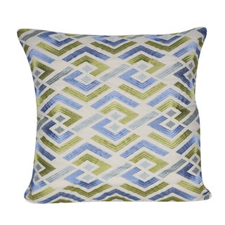 Loom and Mill 18 x 18-inch Cut Geo Decorative Throw Pillow