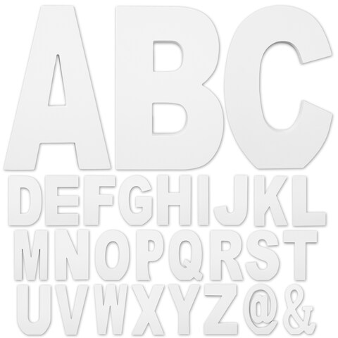 Free-standing White-finish Wooden Large 8.75-inch Decorative Letters