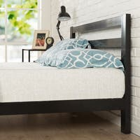 Porch & Den Leonidas Joliet Full-size Black Steel Platform Bed