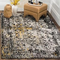 Safavieh Classic Vintage Black/ Silver Cotton Distressed Rug - 5' x 8'
