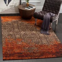 Safavieh Classic Vintage Rust/ Brown Cotton Distressed Rug - 5' x 8'