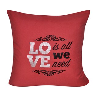 Loom and Mill 22 x 22-inch Love Decorative Pillow