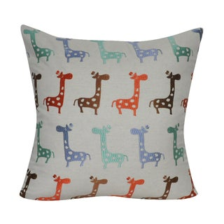 Loom and Mill 22 x 22-inch Giraffe Decorative Pillow