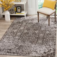Safavieh Classic Vintage Silver/ Brown Cotton Distressed Rug - 5' x 8'