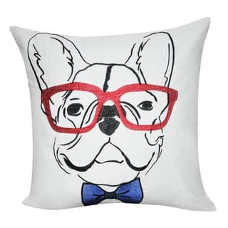 Loom and Mill 21 x 21-inch French Bulldog Decorative Pillow|https://ak1.ostkcdn.com/images/products/11724701/P18644391.jpg?impolicy=medium