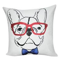Loom and Mill 21 x 21-inch French Bulldog Decorative Pillow