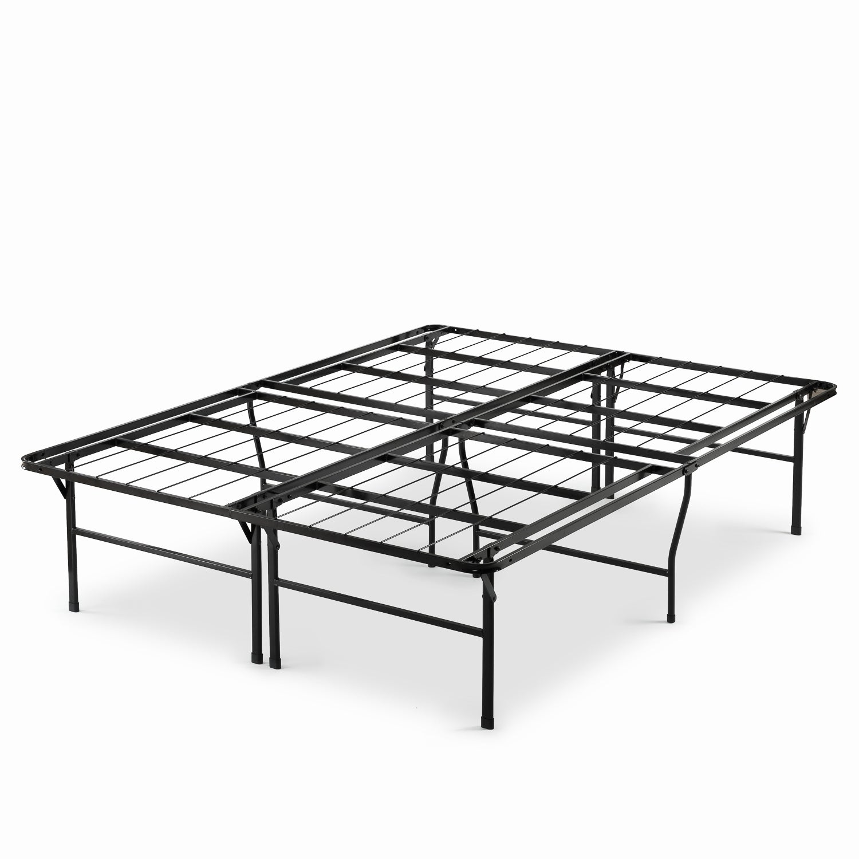Priage By Zinus 18 Inch High Profile Smartbase Black Platform Bed Frame Twin On Sale Overstock 11724714