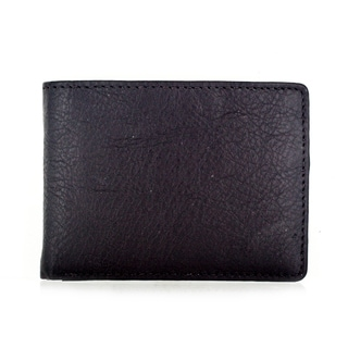 Faddism YL Brown Simple Series Men's Leather Compact Bifold Wallet