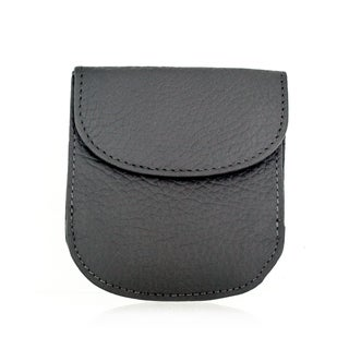 Faddism YL Grey Simple Series Leather Sub Compact Bifold Wallet