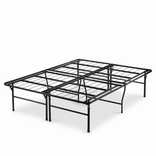 Priage 18-inch High Profile SmartBase Black Platform Bed Frame, King