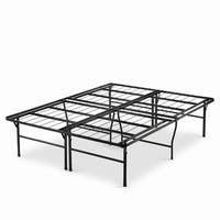 Priage Black Steel 18-inch King Size High Profile SmartBase Platform Bed Frame