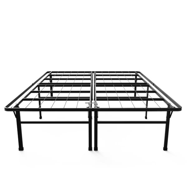 priage 18 inch high profile smartbase black platform bed frame king