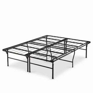 Priage 18-inch High Profile SmartBase Black Platform Bed Frame, Queen