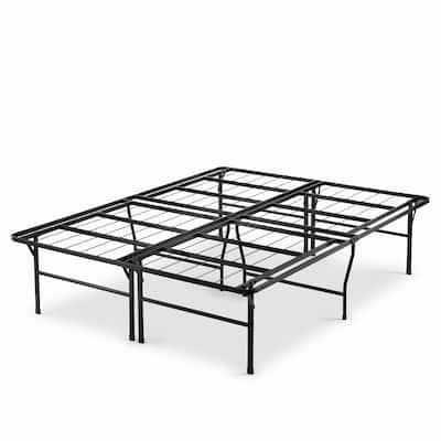 Priage by Zinus 18 inch High Profile SmartBase Black Platform Bed Frame, Queen