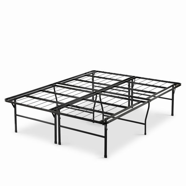 Priage by Zinus 18 inch High Profile SmartBase Black Platform Bed Frame, Queen. Opens flyout.