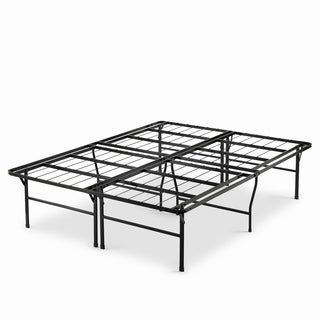 Priage 18-inch High Profile SmartBase Black Platform Bed Frame, Cal King