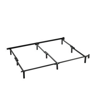 Priage Compack Black Steel Adjustable Twin to Queen Size Bed Frame